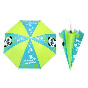 Зонт детский 'Давай играть. Панда', полуавтоматический, r=35см, цвет голубой/салатовый Ош