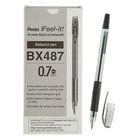 Ручка шариковая Pentel Feel it!, трёхгранная зона захвата, узел-игла 0.7мм, стержень чёрный, масляная основа, металлический наконечник, резиновый грипп