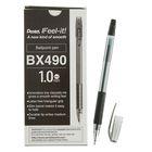 Ручка шариковая Pentel Feel it!, трёхгранная зона захвата, узел-игла 1.0мм, стержень чёрный, масляная основа, металлический наконечник, резиновый грипп