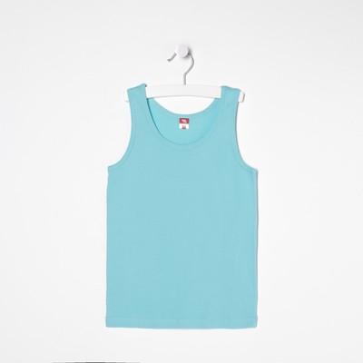 Майка для мальчика, рост 152-158 см, цвет бирюзовый