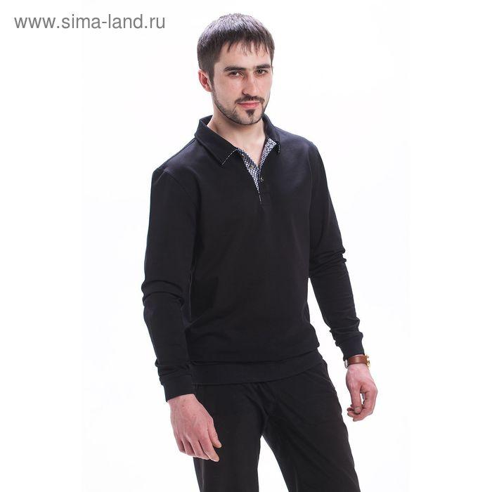 Джемпер мужской М-756-05 цвет чёрный, р-р 56