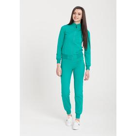 Костюм женский (джемпер, брюки), цвет морская волна, размер 42