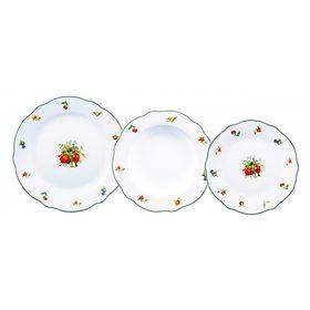 Набор тарелок Bergner, 18 предметов 6 х 19 см, 6 х 21,5 см, 6 х 27 см, фарфор Ош