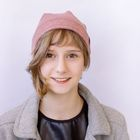 """Шапка для девушек """"М-50"""" демисезонная, размер 52-54, цвет бордовый меланж (арт. 806953)"""