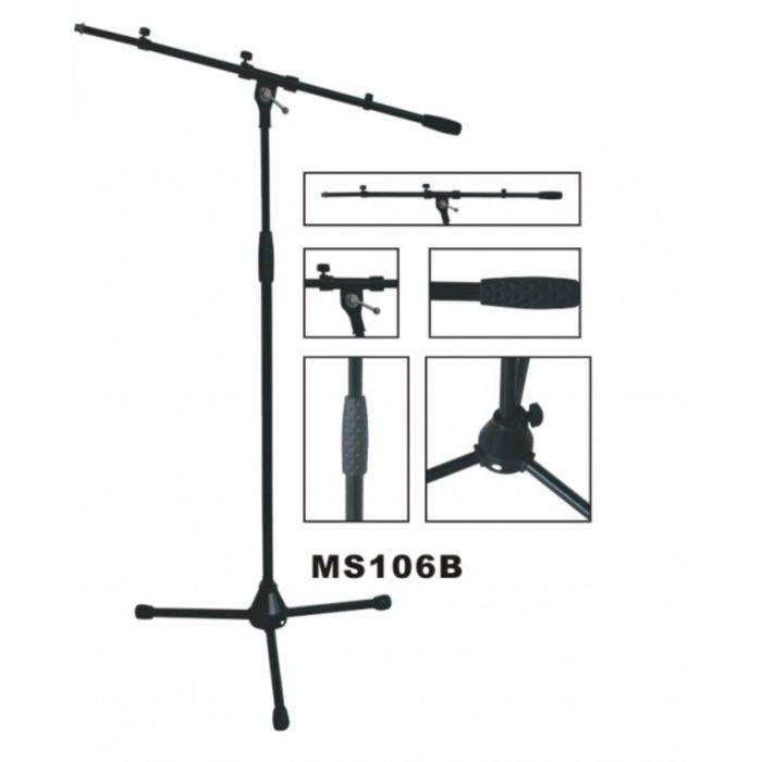 Микрофонная стойка журавль VESTON MS106B