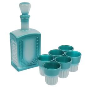 """Набор питьевой 7 предметов """"Мера"""": графин 500 мл, 6 стопок 50 мл, напыление"""