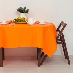 """Набор столовый """"Этель"""" Яркий цитрус скатерть 110х160 см, салфетки 40х40 см - 4 шт., рогожка"""