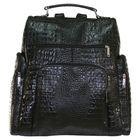 Портфель (рюкзак) женский ва608Б-3050,29*15*40,отд на молнии, н/карман,чёрный