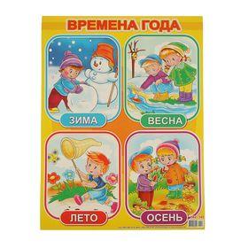 """Плакат развивающий """"Времена года"""" А2"""