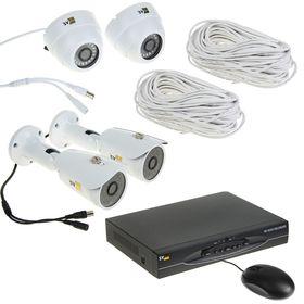 Комплект видеокамер универсальный Svplus VHD-Kit114U, AHD, 1 Мп, 2 ул. + 2 вн. Камеры