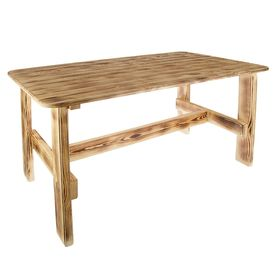 """Стол """"Дачный"""" 120 см, сосна обожжённая лакированная"""