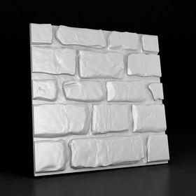 """Гипсовая 3D панель """"Старый камень - большой"""" 500х500"""