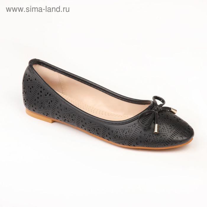 Балетки женские  арт. SW-41010 (черный) (р. 38)