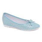Туфли для школьников девочек SC-21440 (голубой) (р. 33)