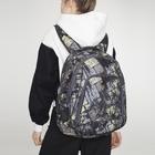 Рюкзак на молнии, 2 отдела, 2 наружных кармана, цвет чёрный