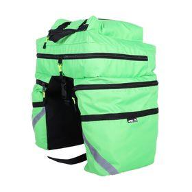 Велосумка на багажник Course 30 л, цвет зелёный