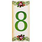 """Цифра дверная из дерева """"8"""", цветочный стиль, 3*7 см"""