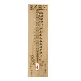 Деревянный термометр для бани 'Банька', Ош