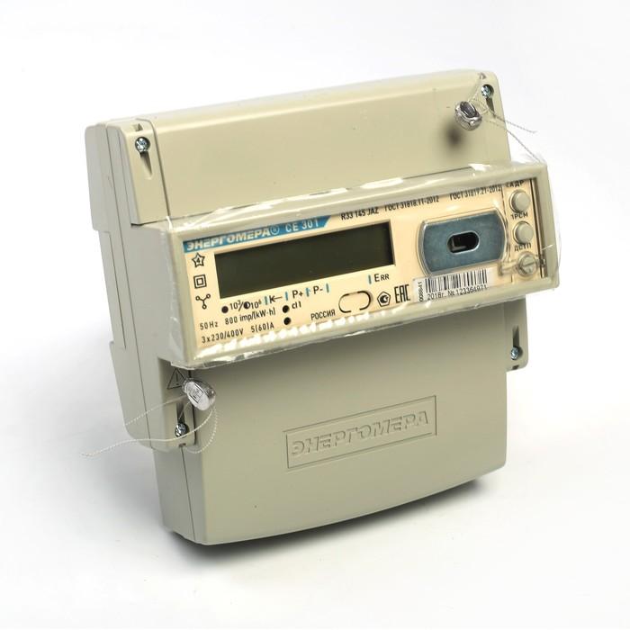 Счетчик СЕ 301 R33 145-JAZ, 3ф, 5-60 А, 1 кл. точн, многотарифный, оптопорт, GMT +5, ЕКБ