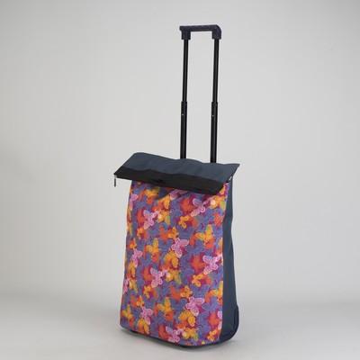 Сумка хозяйственная на колесах, с расширением, 1 отдел, цвет фиолетовый