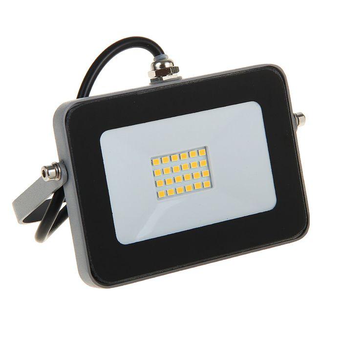 Прожектор светодиодный Ecola, 10 Вт, 220 В, 2800 K, IP65, Серебристо-серый 115x80x14