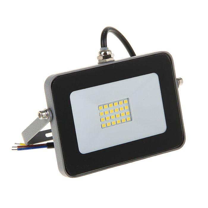 Прожектор светодиодный Ecola, 10 Вт, 220 В, 6000 K, IP65, Серебристо-серый 115x80x14