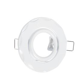 Светильник встр поворотный Ecola, MR16, DH07, GU5,3, Звезда (скрытый крепеж) Белый 25x88