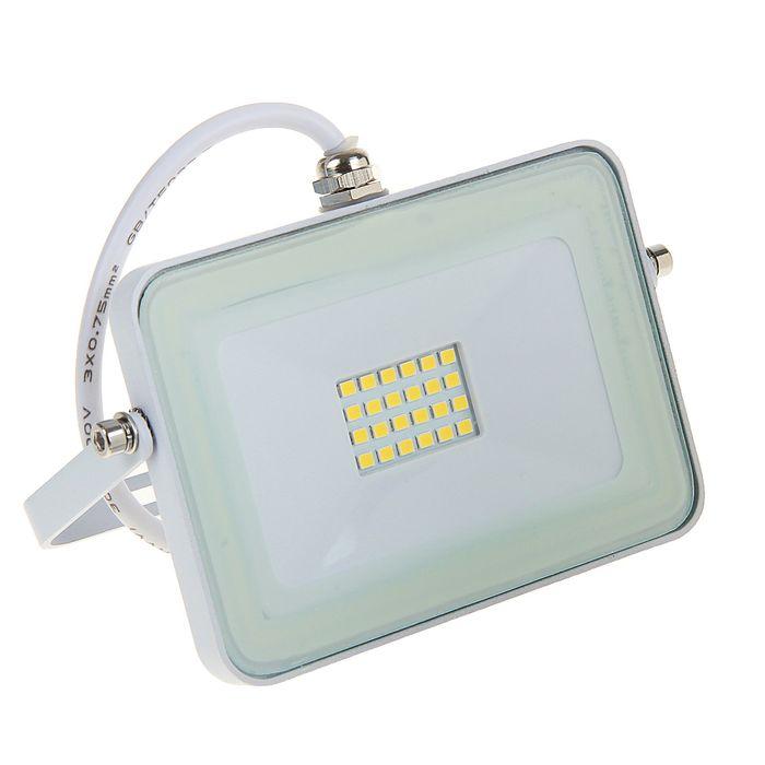 Прожектор светодиодный Ecola, 10 Вт, 4200 K, IP65, 115 x 80 x 14 мм, белый