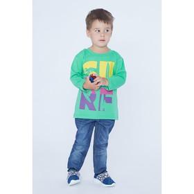 Джемпер для мальчика, рост 98 см, цвет зелёный 170217