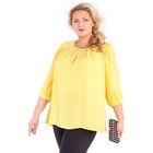Блуза женская 17-m220-29/8, размер 54, цвет жёлтый