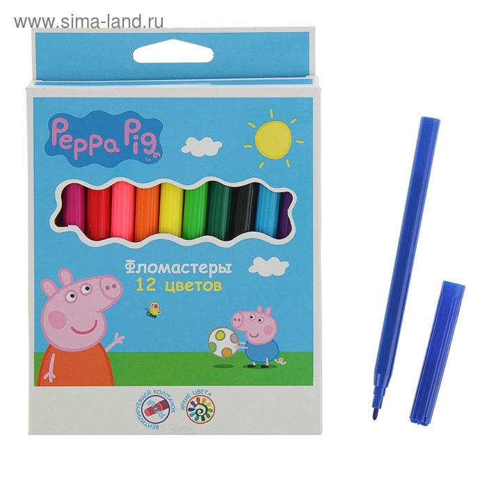 Фломастеры 12цв Peppa Pig 32051