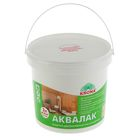 Лак защитно-декоративный для древесины Аквалак Krona, бесцветный, 3 л