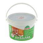 Лак защитно-декоративный для древесины Аквалак Krona, палисандр шоколад, 3 л