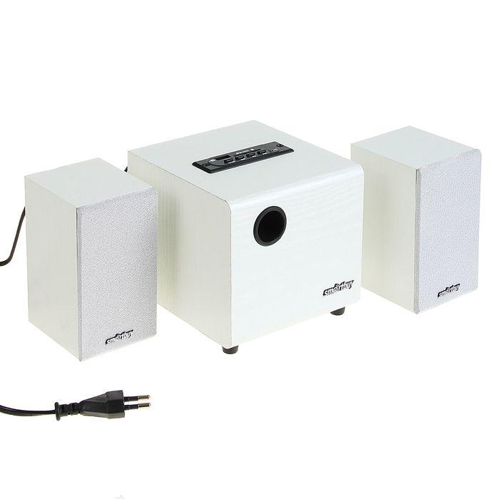 Акустическая система 2.1 SmartBuy SPARTA SBA-210, 2х2Вт+8Вт, MP3, FM, 220В, белые
