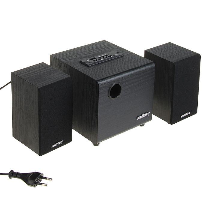 Акустическая система 2.1 SmartBuy SPARTA SBA-200, 2х2Вт+8Вт, MP3, FM, 220В, черные