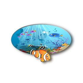 """Люстра """"Сказка"""" Подводный мир с фигуркой  37298 3*60Вт Е14 42х42х25 см"""