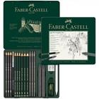 Карандаши художественный набор Faber-Castell PITT Monochrome 19 шт. в металлической коробке 112973