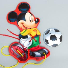 Шнуровка фигурная 'Футболист' Микки Маус 4 элемента Ош