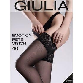 Чулки женские EMOTION RETE VISION 40 ден, цвет чёрный (nero), р-р 1-2/XS-S