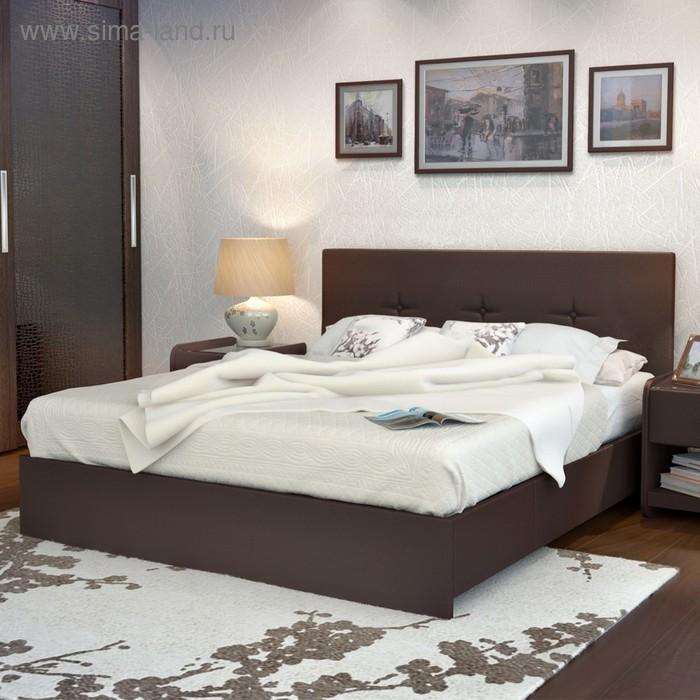 Кровать Askona Isabella с подъёмным механизмом 200 х 180 кожзам Экотекс Venge
