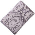 Полотенце велюровое 100х150 Дели серый, 500 гр/м2, хл 100%