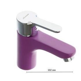 Смеситель для раковины Accoona A9067S, однорычажный, фиолетовый