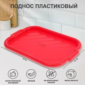 Поднос прямоугольный 39х27 см, цвет МИКС