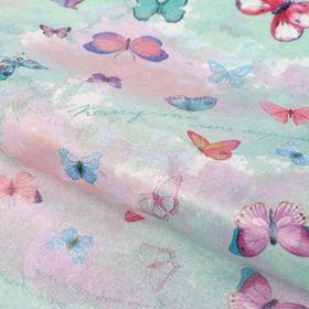 "Бумага упаковочная тишью,""Бабочки"", 50х70 см"
