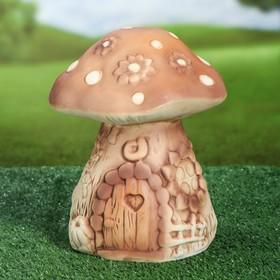 """Садовая фигура """"Сказочный гриб"""" средний, шамот"""
