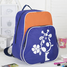"""Рюкзак детский на молнии """"Жирафик"""", 1 отдел, наружный карман, цвет синий/оранжевый"""
