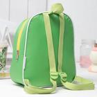 "Рюкзак на молнии ""Дракоша"", 1 отдел, цвет зелёный"