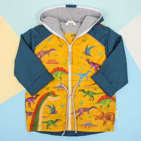 """Куртка детская Collorista """"Динозавры"""" рост 86-92 см (28), 1,5-2 года"""