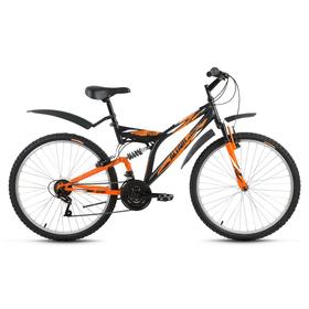 """Велосипед 26"""" Altair MTB FS 26, 2017, цвет черный/оранжевый, размер 16"""""""