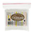 Ватные палочки «CleanLand» в пакетике «зип-лок», 100 шт